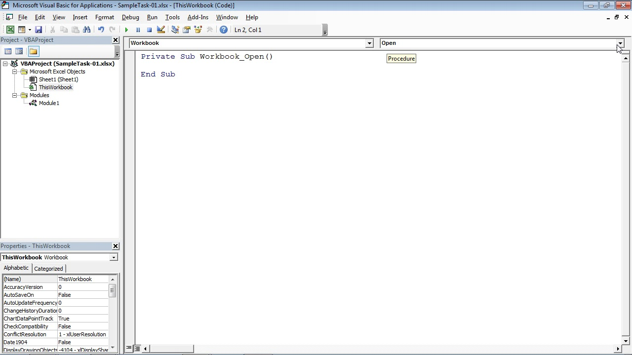 Workbooks excel macro workbooks open : Microsoft Excel - VBA Code on the Workbook Open Event - YouTube