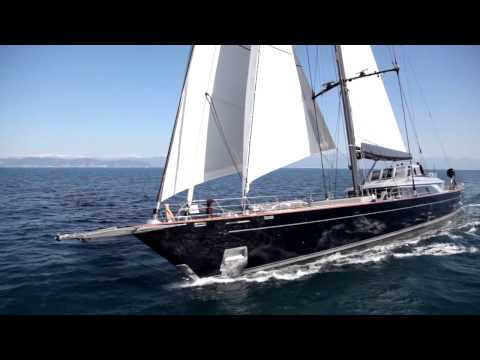60m Perini Navi sailing yacht PERSEUS^3 under sea trials