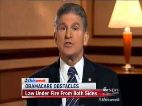 Sen. Joe Manchin (D-WV): Nobody Should Be Forced To Buy ObamaCare If It Costs More