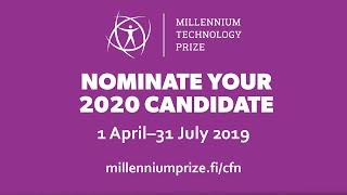 Millennium Technology Prize – Call for 2020 Nominations