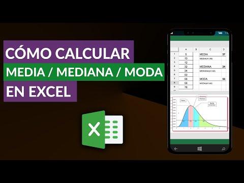 Cómo CALCULAR La Media, Mediana Y Moda En Excel Fácilmente
