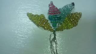 Видео - урок, плетение лепестков из бисера .