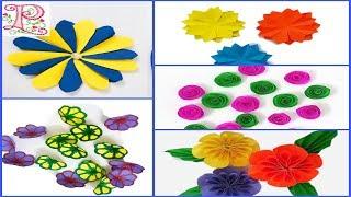 5 Easy Paper Flowers    Flower Making    DIY paper flowers    Poppyalley