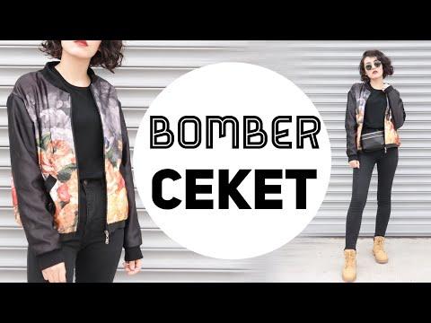 BOMBER CEKET DİKİMİ | DIY Bomber Jacket | Damla Toral