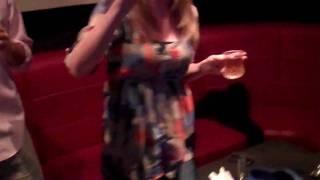 At Di Yuan karaoke in Flushing with Yeh being Michael Jackson (Peck the Beak.com)