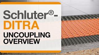 Schluter®-DITRA Installation: Overview