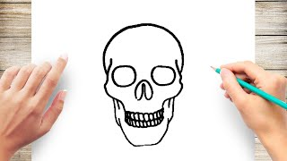 How to Draw a Simple Skull Step by Step