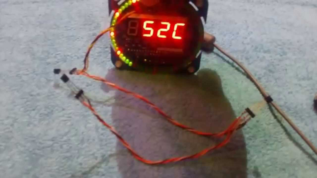 EC1204B Led Rotating Clock: Schematic, upgrade, firmware – Cristian on