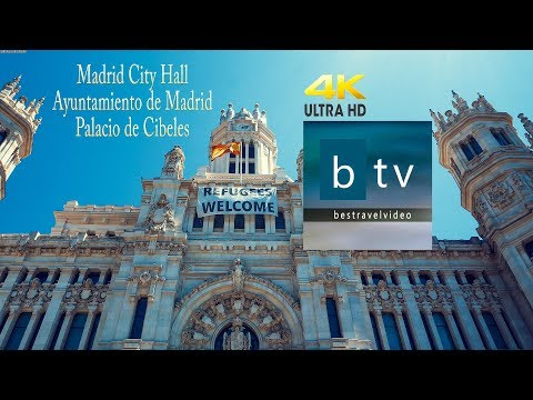 Madrid City Hall - Ayuntamiento De Madrid - Palacio De Cibeles Inside - Out In 4K