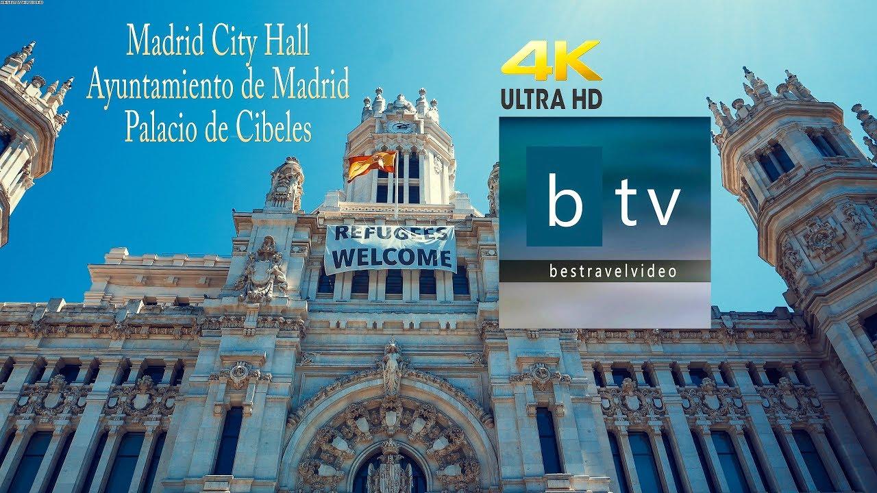 Madrid City Hall Ayuntamiento De Madrid Palacio De Cibeles Inside Out In 4k