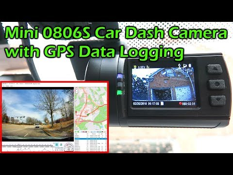 MINI 0806S Car Dash Camera With GPS Data Logging