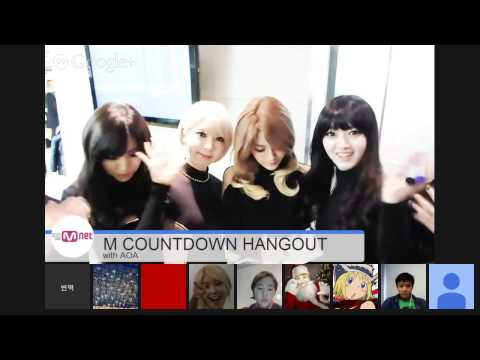 M COUNTDOWN HANGOUT CAM With AOA