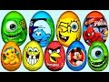 33 Surprise Eggs Kinder Surprise Spongebob Mickey Mouse Disney Pixar Cars Eggs