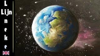 earth drawing pencil planet easy beginners drawings planeet tekenen aarde paintingvalley