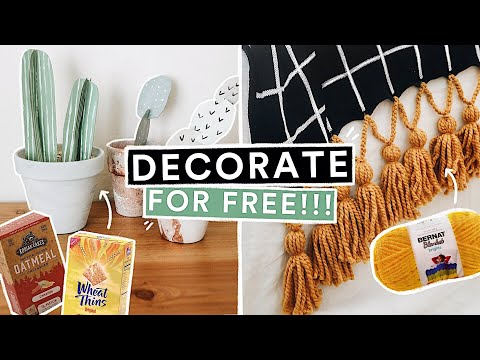 Trash to Treasure DIY ROOM DECOR! *Decorate on a BUDGET*