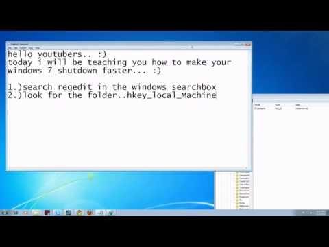 How To Make Windows 7 Shutdown Faster