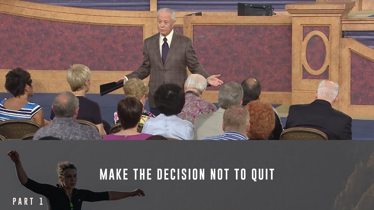 Jerry Savelle sermon Make the Decision Not to Quit, Part 1 - online