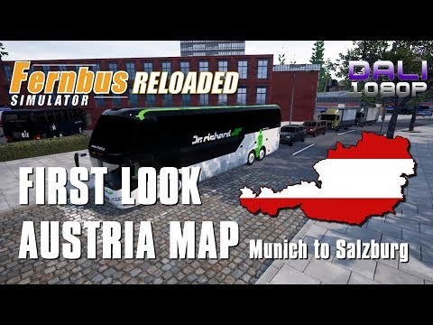FIRST LOOK AT AUSTRIA MAP! Munich to Salzburg - Fernbus Simulator