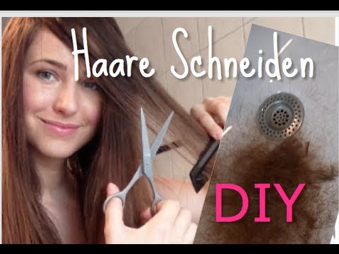 haare selbst schneiden i selbst stufen schneiden i diy tutorial youtube. Black Bedroom Furniture Sets. Home Design Ideas