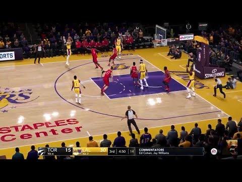 NBA LIVE 19 Max Settings 60fps PS4 PRO - Lakers vs Raptors - Hawks vs Nuggets - Pacers vs 76ers - HD