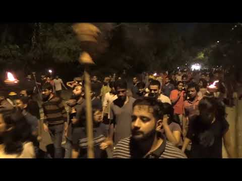Massive March by the United Left in JNU   JNUSU Elections 2017-18