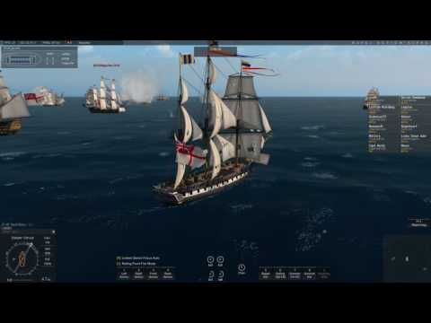 Naval Action: French Fleet Doing PvE at Windward Islands - Gets Caught