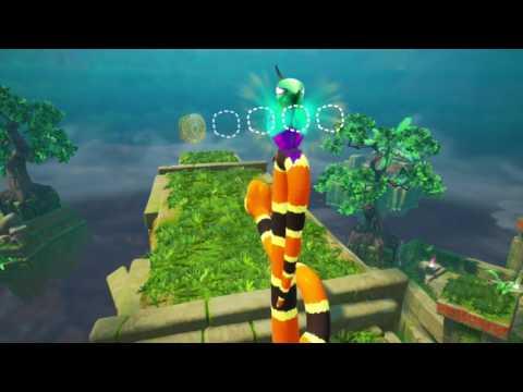 Snake Pass! Level 2 - Courtyard Clamber Walkthrough All Collectibles/Coins (Nintendo Switch)