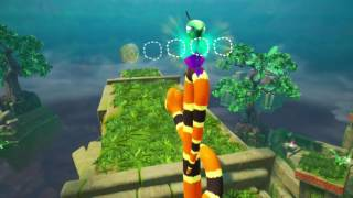 Snake Pass! Level 2 - Courtyard Clamber Walkthrough All Collectibles/Coins (Nintendo Switch)