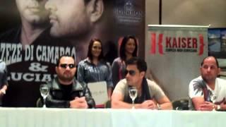 Zeze & Luciano en Paraguay 01 Inicio de la conferencia de prensa