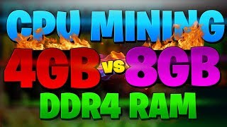 Does Ram Matter for CPU mining ?