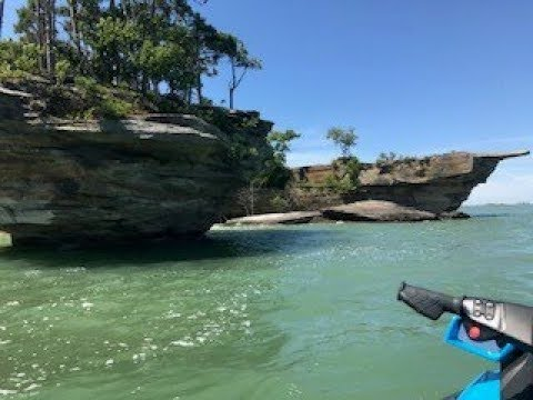 Exploring Turnip Rock in Port Austin Michigan on our 2017 Sea Doo GTR-230 and GTI