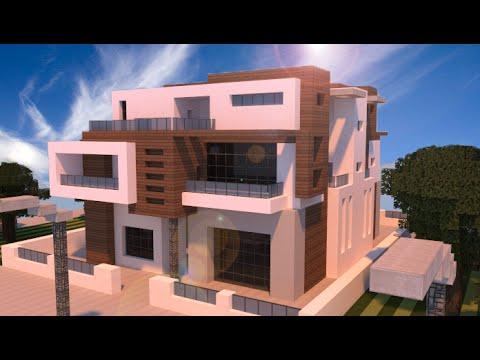 Minecraft schematic mansion omega futurista y moderna for Casas modernas futuristas