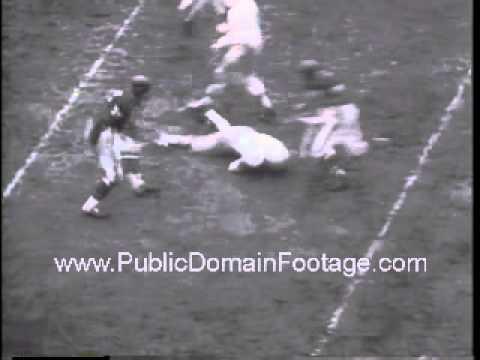 1957 Detroit Lions defeat Chicago Bears advance to playoffs Newsreel PublicDomainFootage.com