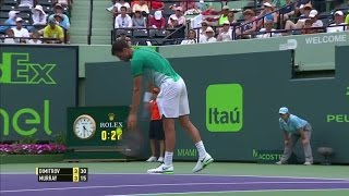 Crisp Dimitrov single-handed backhand, R3 2016 Miami Open