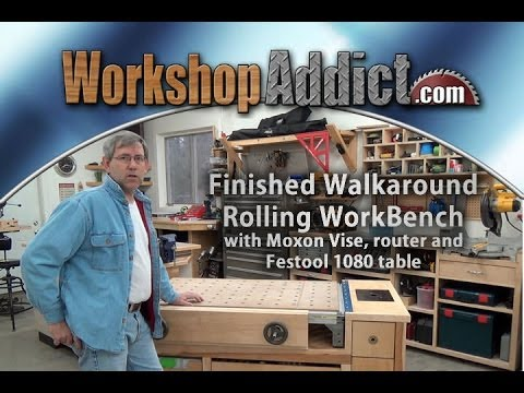 Rolling Woodworkers Bench Part 1 With Festool Mft 1080 Table Finished Walk Around