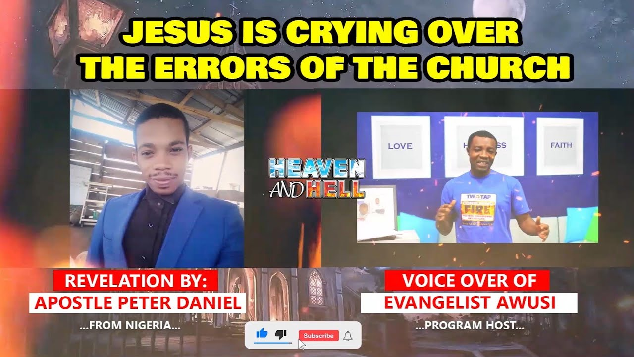 JESUS IS CRYING OVER THE ERRORS OF THE CHURCH