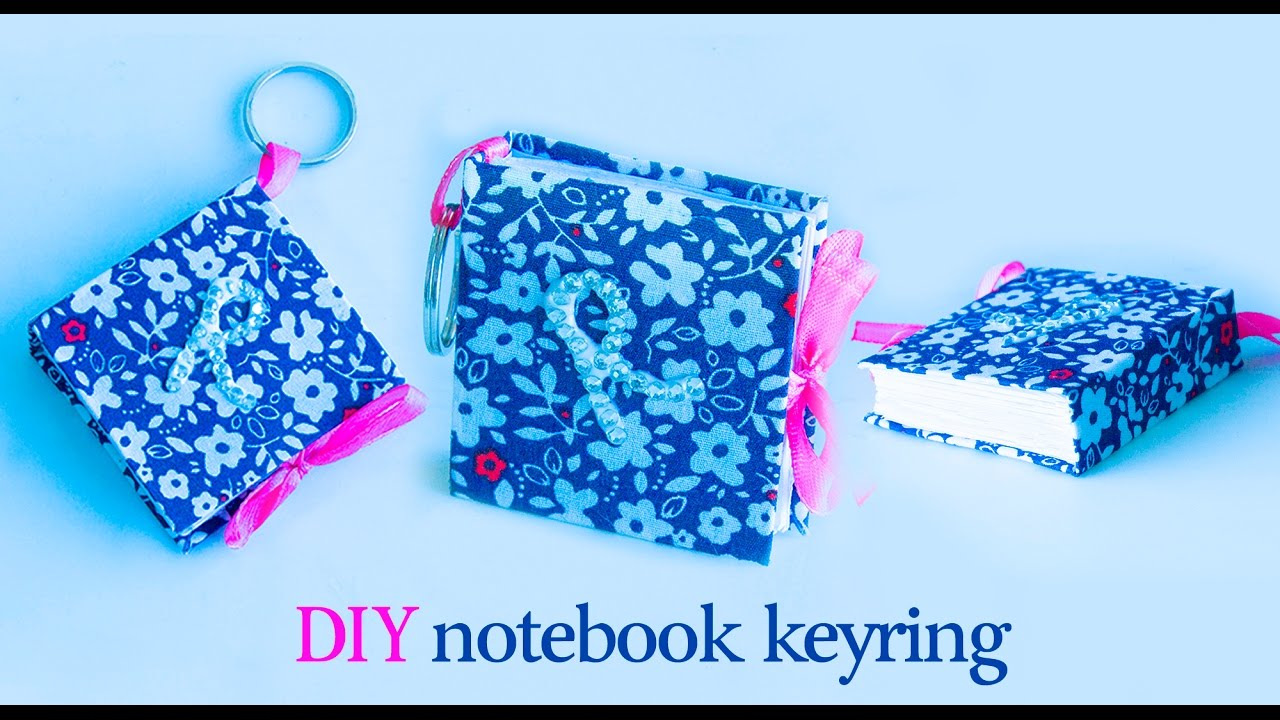 How To Make A Book Keychain : How to make mini notebook keychain diy keyring