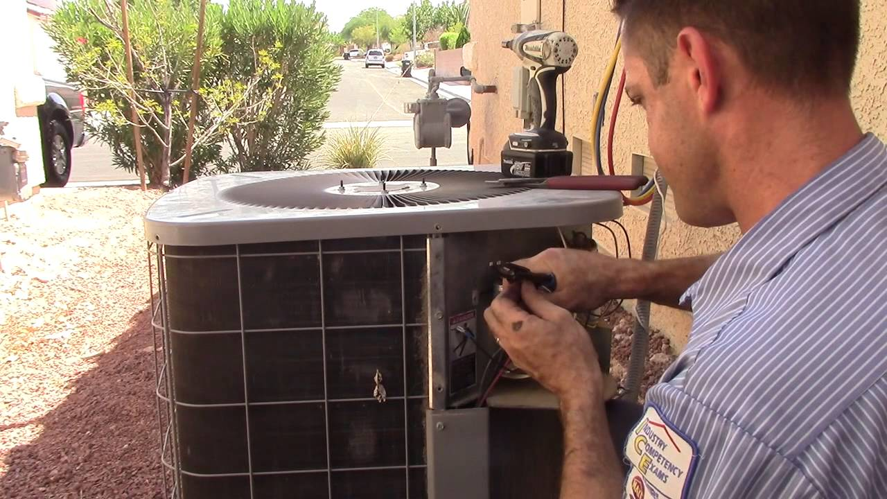 how to install a condenser fan motor understanding the electrical wiring in an air conditioner youtube [ 1280 x 720 Pixel ]