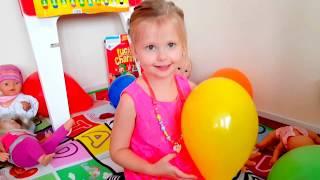 Учим цвета на английском  с разноцветными шариками Learn colours with balloons