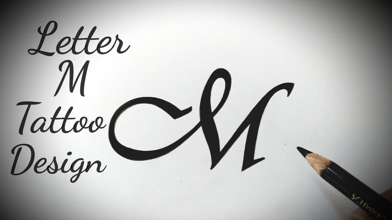 How to draw M letter Stylish tattoo designs Fonts Fancy letters Tattoo  lettering alphabet designs