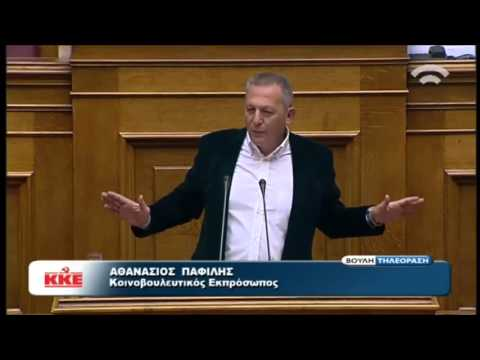 Greek communist party speaker demolishes the parliament
