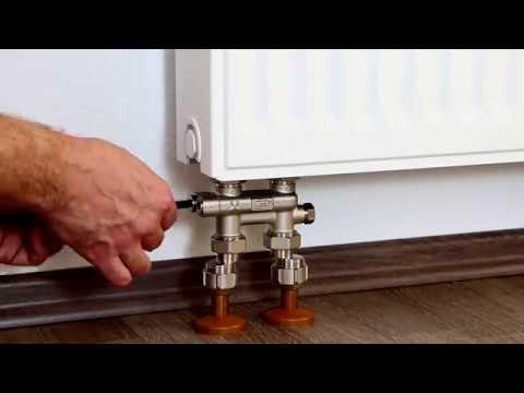 Hummel - радиаторная арматура, перкрестный узел для нижнего подключения.