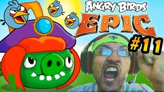 Lets Play Angry Birds EPIC Part 11: Faily Faile Fail, Prince Porky Pig Battle (iOS Face Cam)