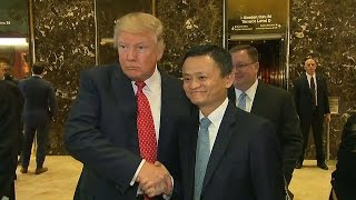 Alibaba founder meets with Trump