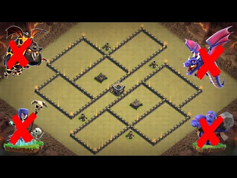 New Best Th9 War Base 2018 | Defense Against Th10 LaLoon; Th9 Witch Slap, GoWiBo, GoWiWi, Mass Drags