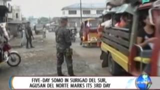 NewsLife: 5-day SOMO in Surigao Del Sur, Agusan Del Norte marks its 3rd day || July 29, 2014