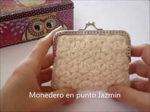 Monedero ganchillo en punto jazm n youtube - Labores a ganchillo paso a paso ...
