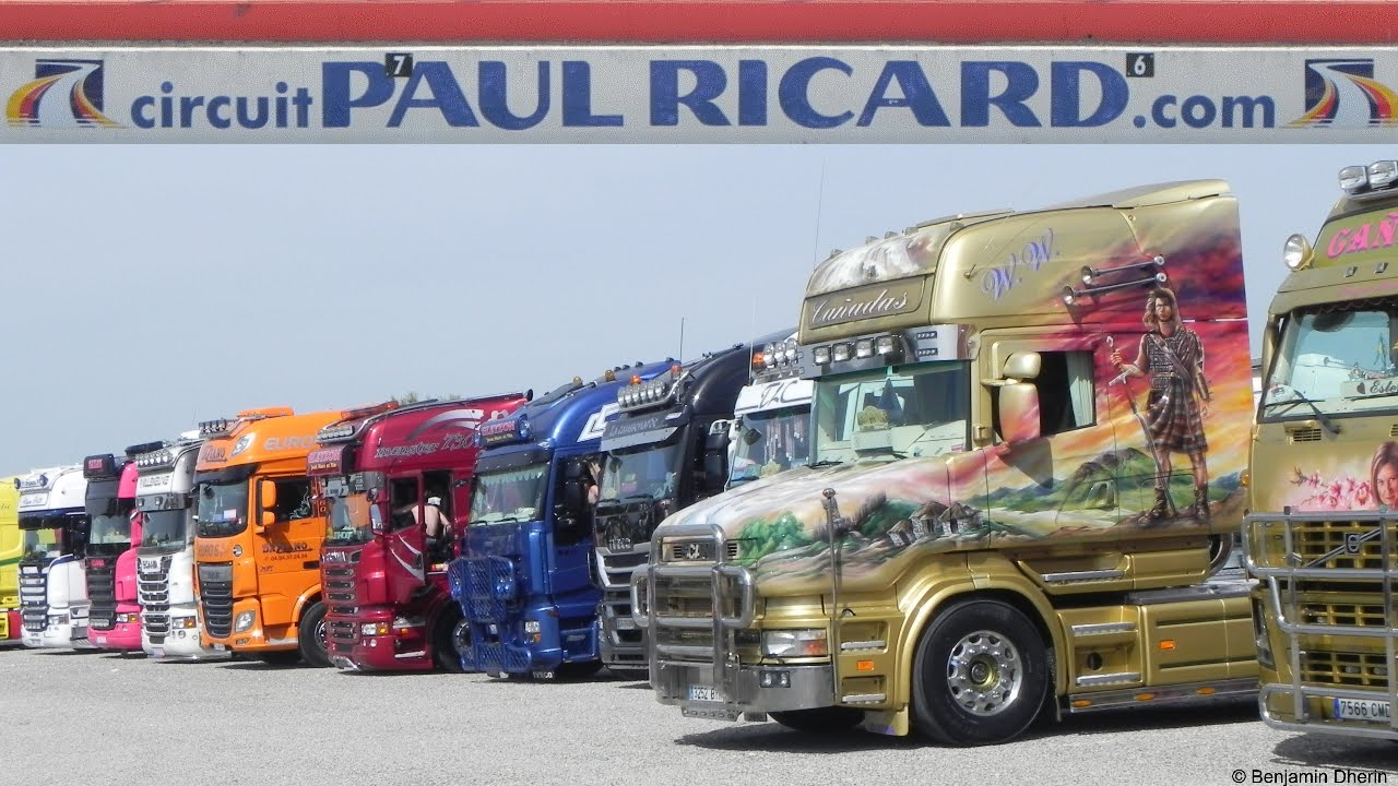 le castellet 2014 circuit paul ricard truck show camions d cor s youtube. Black Bedroom Furniture Sets. Home Design Ideas