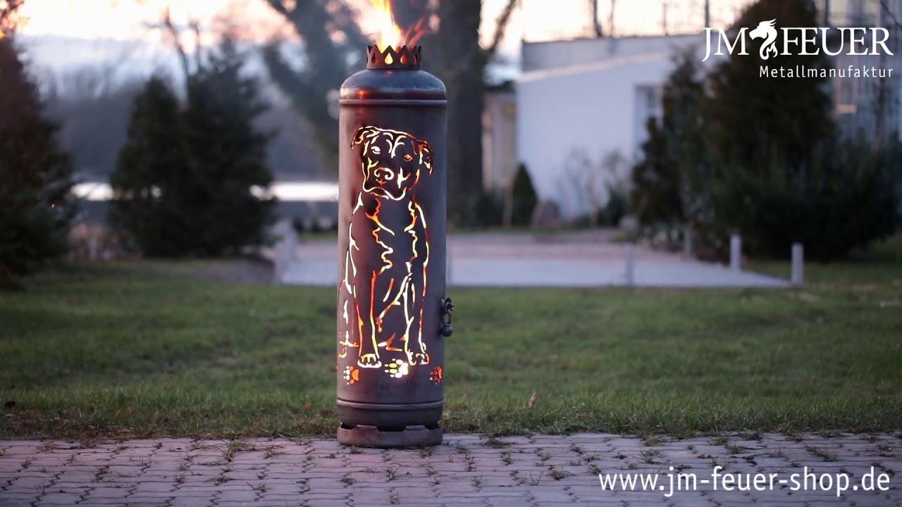 Jm Feuer Shop feuerstelle staffordshire terrier aus metall