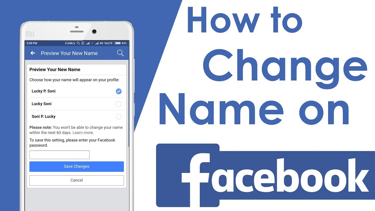 Where to Change Name in Facebook